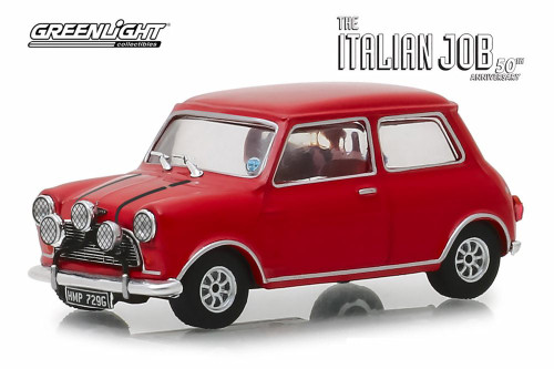 1967 Austin Mini Cooper S 1275 MKI, The Italian Job (1969) - Greenlight 86550 - 1/43 scale Diecast Model Toy Car