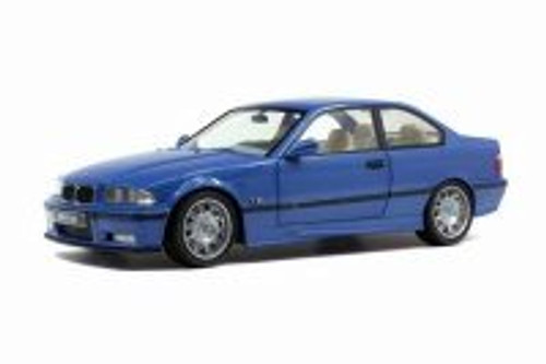 1990 BMW E30 Coupe M3, Blue - Solido S1803901 - 1/18 scale Diecast Model Toy Car