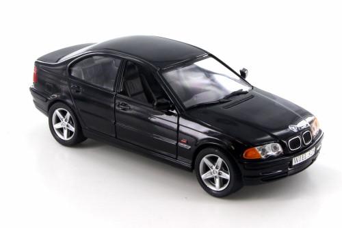 1998 BMW 328i,  Black  - Welly 9395-4D - 1/24 Scale Diecast Model Toy Car
