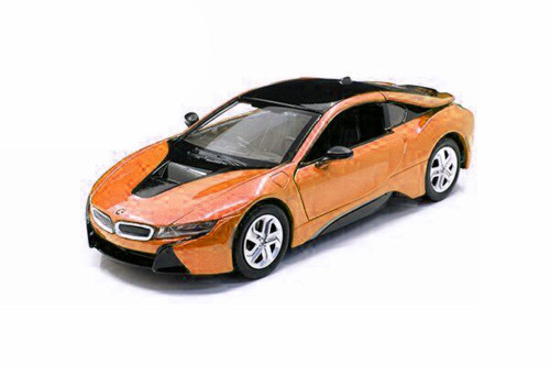 2018 BMW i8 Coupe Hardtop, Orange - Showcasts 79359OR - 1/24 Scale Diecast Model Toy Car