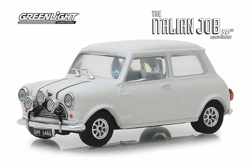 1967 Austin Mini Cooper S 1275 MKI, The Italian Job (1969) - Greenlight 86551 - 1/43 scale Diecast Model Toy Car