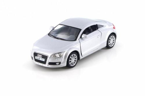 2008 Audi TT Coupe, Metallic Silver  - Kinsmart 5335D - 1/32 Scale Diecast Model Toy Car