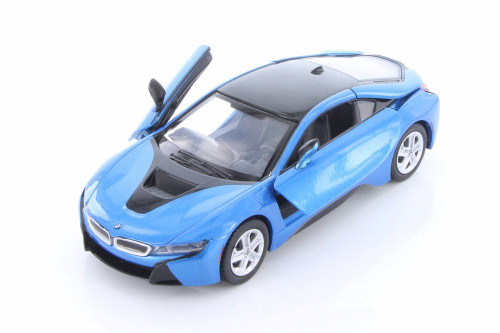 2018 BMW i8 Coupe, Blue - Showcasts 79359/16D - 1/24 scale Diecast Model Toy Car