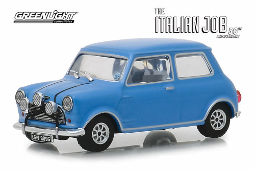 1967 Austin Mini Cooper S 1275 MKI, The Italian Job (1969) - Greenlight 86549 - 1/43 scale Diecast Model Toy Car