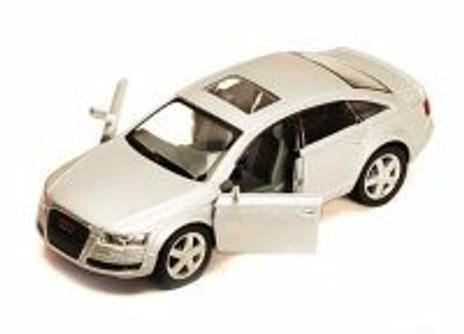 Audi A6, Silver - Kinsmart 5303D -1/38 scale Diecast Model Toy Car