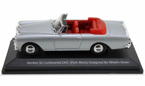 1961 Bentley S2 Continental DHC Convertible, Silver - Yatming 43214 - 1/43 Scale Diecast Model Toy Car