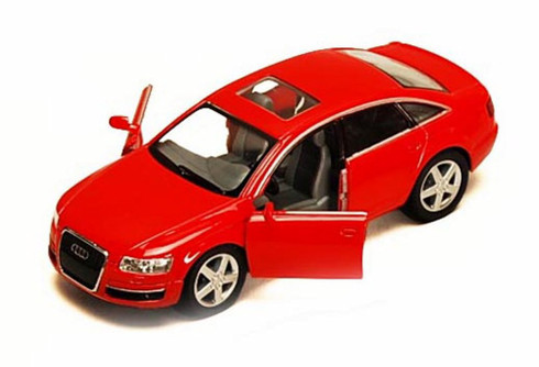 Audi A6, Red - Kinsmart 5303D -1/38 scale Diecast Model Toy Car (Brand New, but NOT IN BOX)