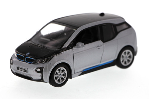 BMW i3, Silver - Kinsmart 5380D - 1/32 Scale Diecast Model Toy Car (Brand New, but NOT IN BOX)