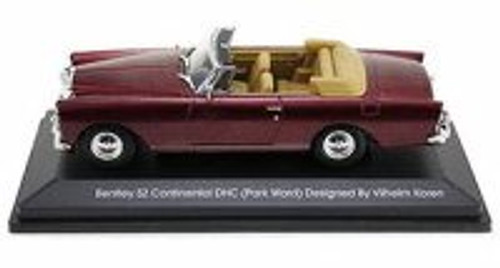 1961 Bentley S2 Continental DHC Convertible, Burgundy - Yatming 43214 - 1/43 Scale Diecast Model Toy Car