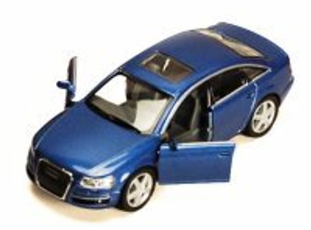 Audi A6, Blue - Kinsmart 5303D -1/38 scale Diecast Model Toy Car