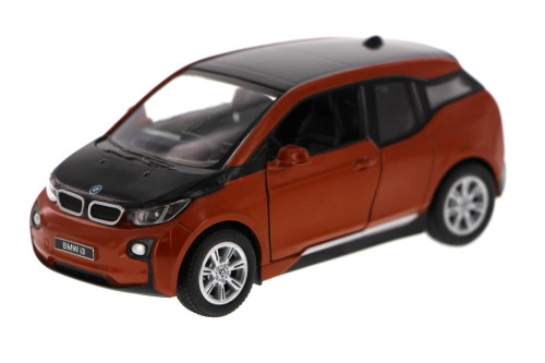 BMW i3, Orange - Kinsmart 5380D - 1/32 Scale Diecast Model Toy Car (Brand New, but NOT IN BOX)