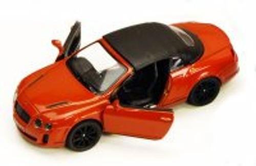 2010 Bentley Continental Supersports Convertible, Orange - Kinsmart 5353D - 1/38 scale Diecast Model Toy Car