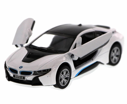 BMW i8, White - Kinsmart 5379D - 1/36 Scale Diecast Model Toy Car