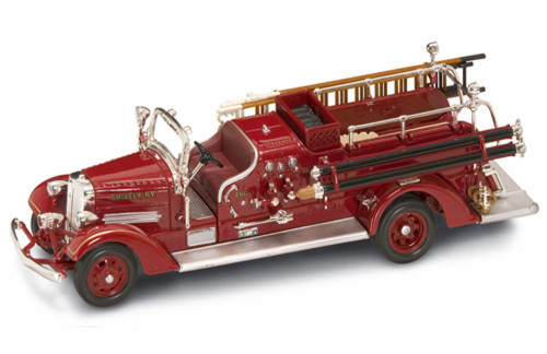1938 Ahrens-Fox VC Fire Engine Shively, KY, Red - Yatming 43003 - 1/43 Scale Diecast Model Toy Car