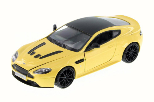 Aston Martin V12 Vantage S Coupe, Yellow - Motor Max 79322L - 1/24 Scale Diecast Model Toy Car