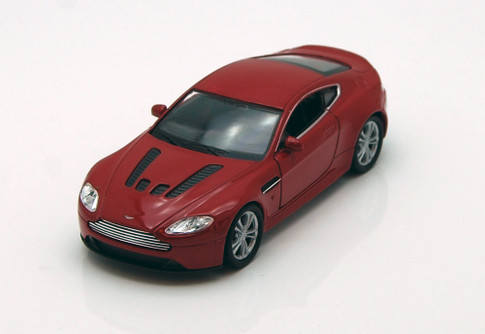 "Aston Martin V12 Vantage , Red - Welly 43624 - 4.5"" Long Diecast Model Toy Car (Brand New, but NOT IN BOX)"