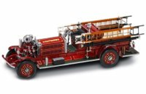 1925 Ahrens-Fox N-S-4 Fire Engine, Red/ White - Yatming 20108 - 1/24 Scale Diecast Model Toy Car