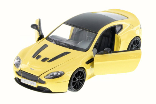 Aston Martin V12 Vantage S Coupe, Yellow - Motor Max 79322YL/6 - 1/24 Scale Diecast Model Toy Car