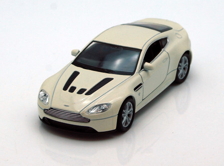 "Aston Martin V12 Vantage , White - Welly 43624 - 4.5"" Long Diecast Model Toy Car (Brand New, but NOT IN BOX)"