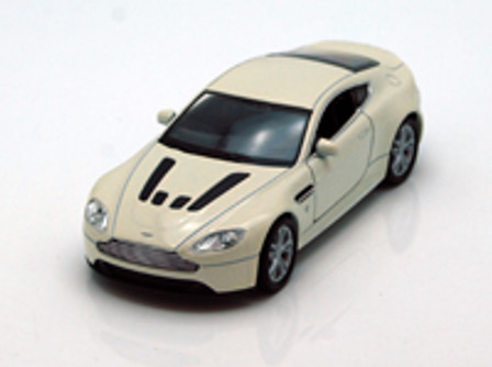 """Aston Martin V12 Vantage , White - Welly 43624 - 4.5"""" Long Diecast Model Toy Car (Brand New, but NOT IN BOX)"""