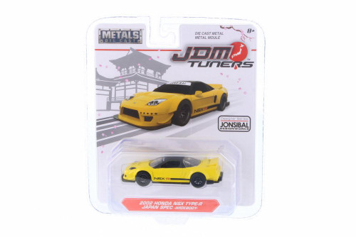 2002 Acura NSX Type R, Yellow - Jada 98345-MJ - 1/64 Scale Diecast Model Toy Car