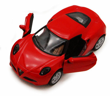 2013 Alfa Romeo 4C, Red - Kinsmart 5366D - 1/32 scale Diecast Model Toy Car (Brand New, but NOT IN BOX)