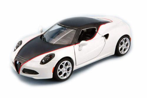 Alfa-Romeo 4C Hardtop, White and Black - Showcasts 79513 - 1/24 Scale Diecast Model Toy Car