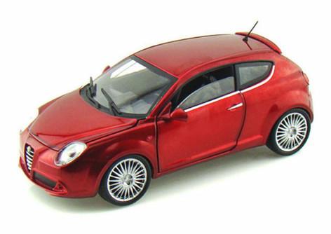 Alfa Romeo Mito Hard Top, Metallic Red - Mondo Motors MO51046 - 1/24 scale diecast model car