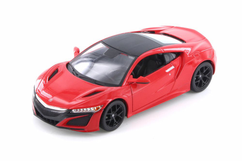 2018 Acura NSX Hardtop, Metallic Red - Maisto 31234R - 1/24 scale Diecast Model Toy Car