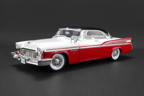 1956 Chrysler New Yorker St. Regis, Red with White and Black - Acme 1809001 - 1/18 scale Diecast Model Toy Car