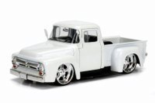 1956 Ford F100, White - Jada 99045DP1 - 1/24 Scale Diecast Model Toy Car