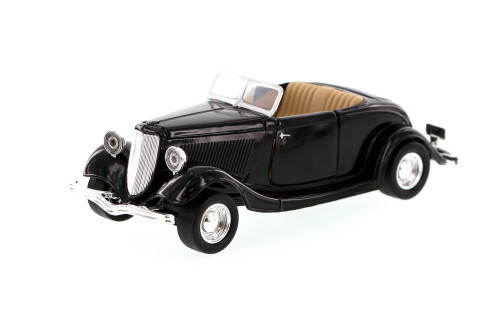 1934 Ford Coupe Convertible, Black - Motormax 73218 - 1/24 Scale Diecast Model Car
