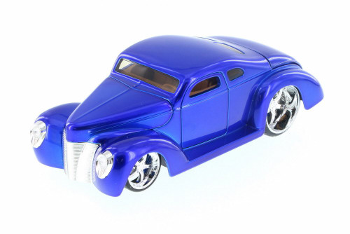 1940 Ford Coupe Custom, Blue - Jada 90281LC - 1/24 Scale Diecast Model Toy Car