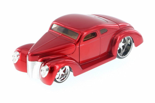 1940 Ford Coupe Custom, Red - Jada 90281LC - 1/24 Scale Diecast Model Toy Car