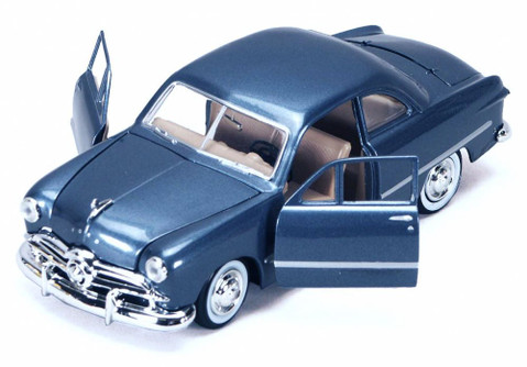 1949 Ford Coupe Classic Oldies Car, Blue - Motormax 73213 - 1/24 Scale Diecast Model Toy Car