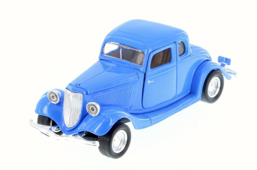1934 Ford Coupe, Blue - Motor Max 73217WB - 1/24 Scale Diecast Model Toy Car