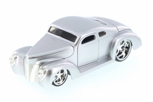 1940 Ford Coupe Custom, Silver - Jada 90281LC - 1/24 Scale Diecast Model Toy Car