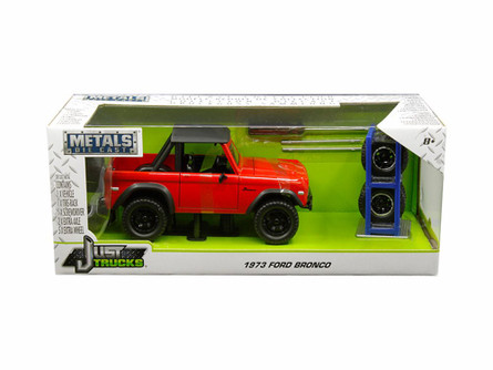 1973 Ford Bronco, Red - Jada 30518-MJ - 1/24 scale Diecast Model Toy Car