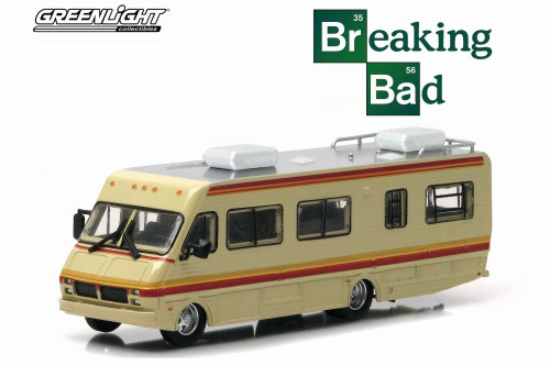 Breaking Bad 1986 Fleetwood Bounder RV, Tan with Stripes - Greenlight 33021/48 - 1/64 Scale Diecast Model Toy Car