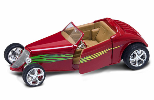 1933 Ford Convertible, Red - Road Signature 92838 - 1/18 Scale Diecast Model Toy Car