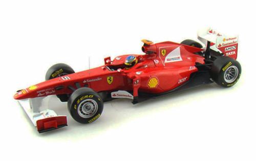 2011 Ferrari 150° Italia F1 - F. Alonso #5, Red - Mattel Hot Wheels W1073 - 1/18 Scale Diecast Model Toy Car