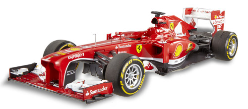 2013 - Ferrari F138 - F. Alonso, Red - Mattel Hot Wheels BCT82 - 1/18 Scale Diecast Model Toy Car
