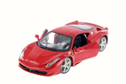 Ferrari 458 Italia, Red - Bburago 26003D - 1/24 Scale Diecast Model Toy Car