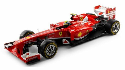 2013 - Ferrari F138 - F. Mass #4, Red - Mattel Hot Wheels BCK15 - 1/18 Scale Diecast Model Toy Car