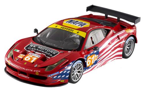 2012 - Ferrari 458 Italia GT2 - AF Corse, Red - Mattel Hot Wheels BCT78 - 1/18 Scale Diecast Model Toy Car