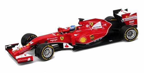 2014 Ferrari F2014 F. Alonso #14, Red - Mattel Hot Wheels Racing BLY67 - 1/18 Scale Diecast Model Car