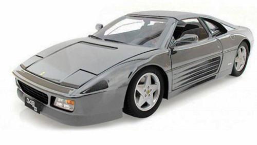 Ferrari 348TS, Gray - Bburago 16006 - 1/18 scale Diecast Model Toy Car