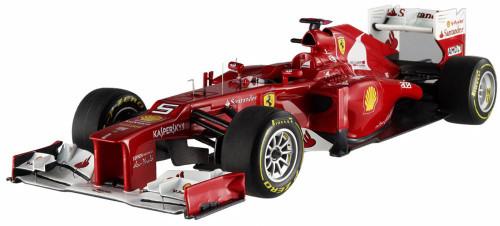 2012 - Ferrari F2012 F1 Formula - F. Alonso #5, Red - Mattel Hot Wheels X5484 - 1/18 Scale Diecast Model Toy Car