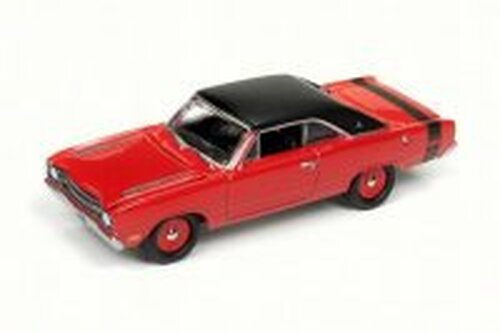 1969 Dodge Dart Swinger, Bright Red/Black - Round 2 JLMC011/24B - 1/64 Scale Diecast Model Toy Car