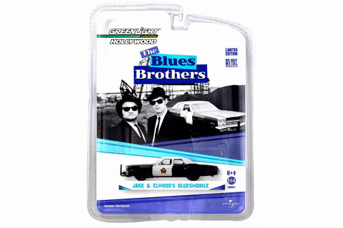 Blues Brothers 1974 Dodge Monaco 'Bluesmobile', Black - Greenlight 44710C - 1/64 Scale Diecast Model Toy Car